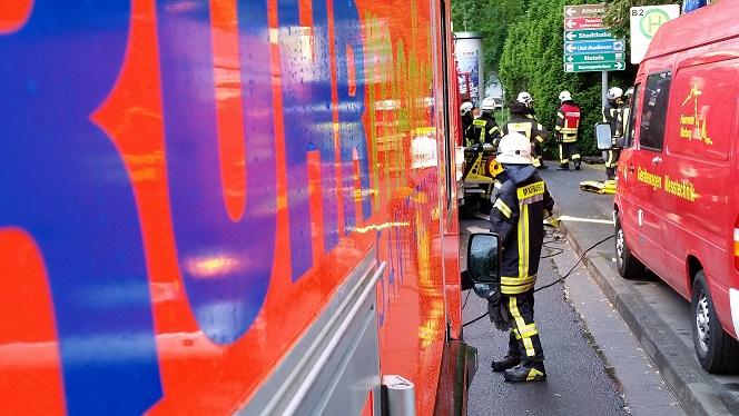 Rettungsgasse verstopft – Feuerwehr erstattet Anzeige